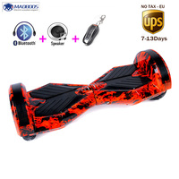 Hoverboard 8 Inch Bluetooth LED Light Two Wheel Scooter Smart Self Balancing Scooter Electric Skateboard With