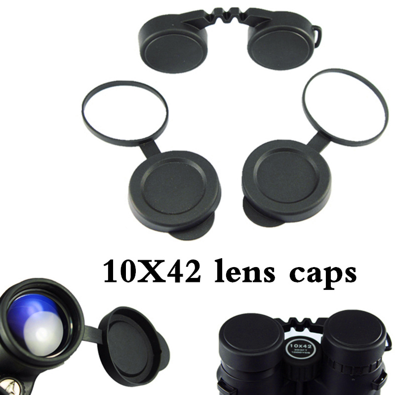 10x42 Binoculars Lens-Caps Eyepiece Protective Compact Professional for Rubber-Cover
