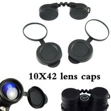Profissional 10x42 binóculos lente tampas objetiva capa de borracha protetora ocular poeira terno para compacto binocular melhor proteger