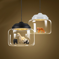 Nordic minimalist creative personality transparent glass dining room ceiling lamp glass