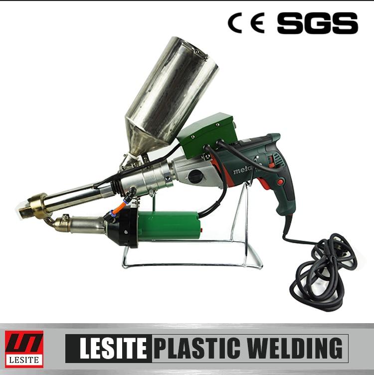 LST620 Plastic granules extrusion welding gun for plastic pipe pp pe membrane automotive plastic repairs kit abs pe pp pvc plastic welding rod wires fairing sticks appc 100