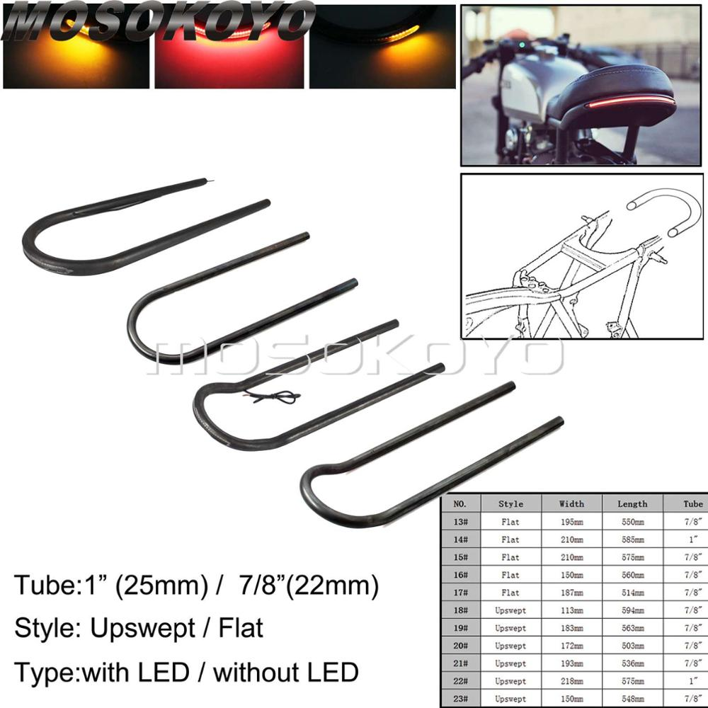 "Cafe Racer 1/"" Rear Seat Cushion Loop Frame Hoop Kit Tracker End Universal 236mm"