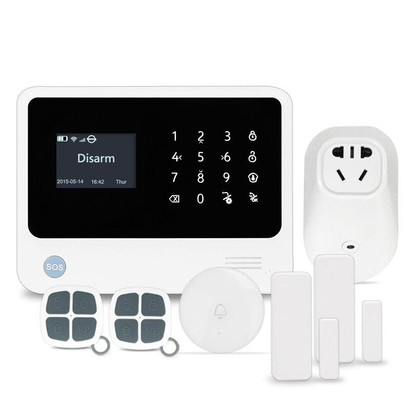 Черный/белый Сенсорная панель ЖК-дисплей экран 3 г gsm Сигнализация приложение управления смарт Разъем беспроводной дверной звонок 3 г wi-Fi ...