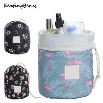2019 Hot Sale Round Makeup Bag Waterproof Travel Cosmetic bag MakeUp organizer Female Storage Toiletry Kit Case