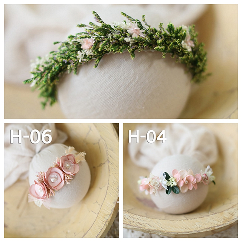 Newborn Baby Headbands Girl Flower Princess Hand-made Headwear Photo Shooting Accessory Newborn Photography Props