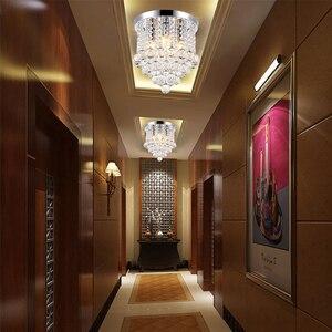 Image 4 - Хрустальный потолочный светильник для гостиной, круглый светодиодный светильник для украшения дома