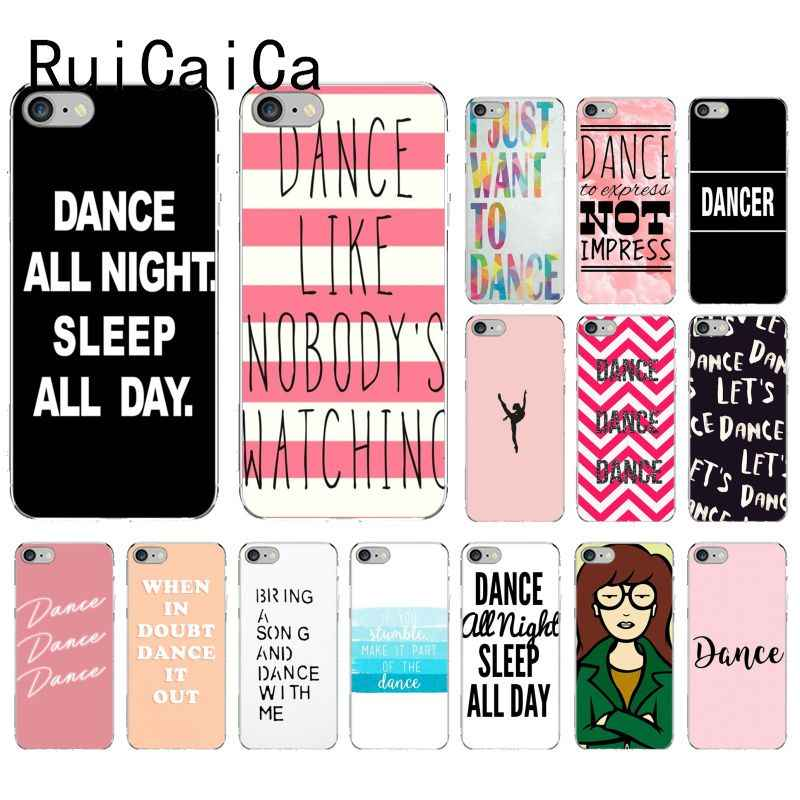RuiCaiCa Dance all night sleep all day Colorful Cute Phone Case for iPhone 8 7 6 6S Plus X XS MAX 5 5S SE XR 10 Cases