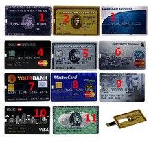 Hot sale 4GB/8GB/16GB/32GB Each country Bank Credit Card Shape USB Flash Drive Pen Drive Memory Stick best gifts USB Flash Drive