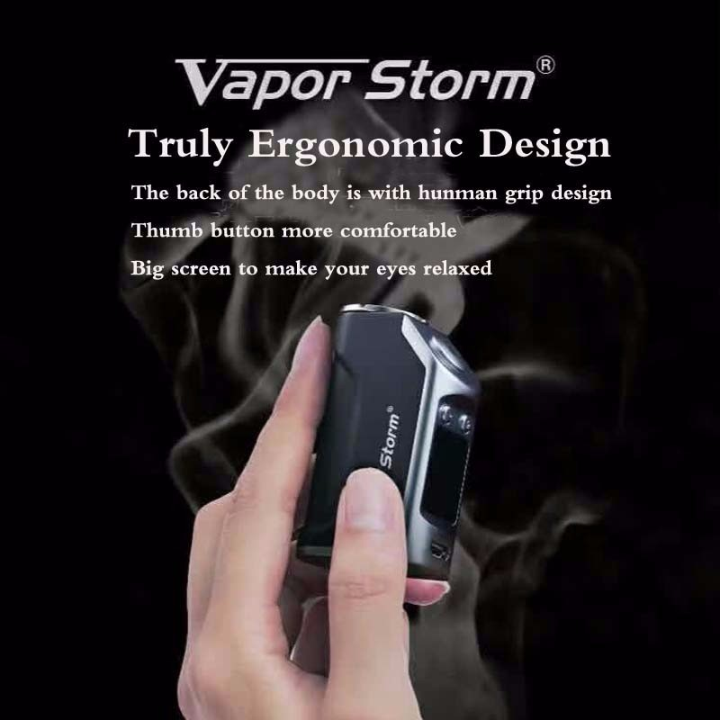 Vapor Storm 50W Electronic Cigarettes Fashion Box Mod Kits Temperature Control Electronic Hookah shisha pen Vtank