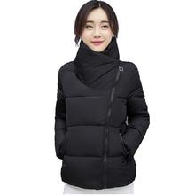 Collare del basamento di Inverno Delle Donne del Rivestimento Solido Donne Alla Moda Giubbotti Basic Outwear Autunno Breve Cappotto Jaqueta Feminina Inverno 2019 nuovo