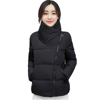 Stand Collar Winter Jacket Women Solid Stylish Womens Basic Jackets Outwear Autumn Short Coat Jaqueta Feminina Inverno 2018 New