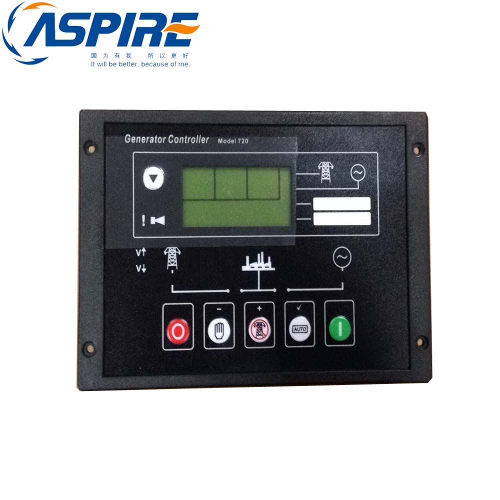 free shipping Diesel Generator Controller 720 fast shipping 6 5kw 220v 50hz single phase rotor stator gasoline generator diesel generator suit for any chinese brand