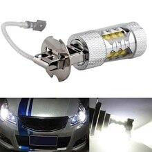 1 шт. высокое Мощность H3 Светодиодный Свет автомобиля 80 Вт светодиодный супер яркий белый туман Хвост Включите DRL головной автомобиля свет дневных Бег лампа 12 В