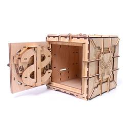 3D Puzzle di Legno Password di Scatola del Tesoro di Trasmissione Meccanica Di Puzzle Ucraina Modello di Giorno di san valentino Creativo Adulti Regali Crescere