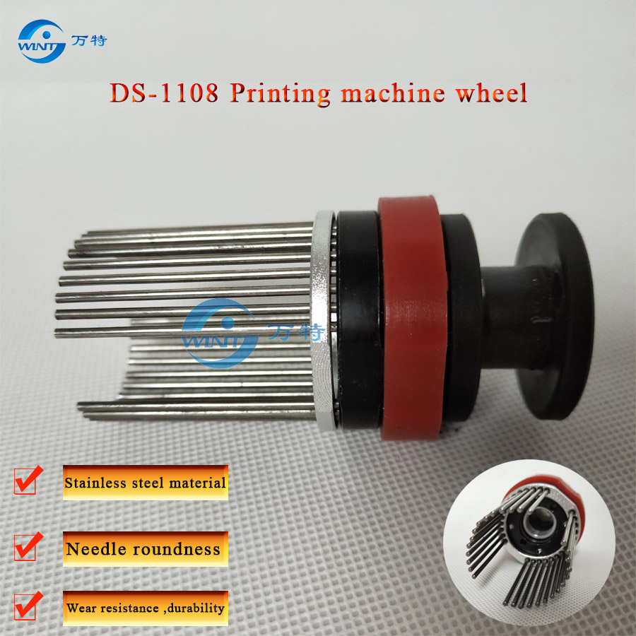 DS1108 maszyna drukarska pin wheel, uchwyt na listy, głowica drukująca, uchwyt do kodowania, stojak na ziarna