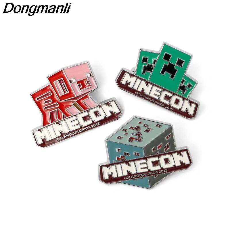 P1945 Dongmanli Pixel Games Enamel Brooch kids Pins Badge Buttons Gift Jewelry Gift