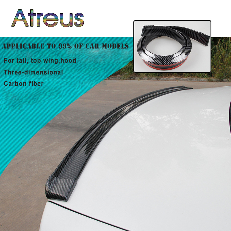 Atreus Car-Styling Carbon Fiber Spoilers For BMW E46 E39 E90 E60 E36 F30 F10 E34 X5 E53 E30 F20 E92 M3 M4 M5 X5 X6 Accessories back seat covers leather car seat cover for bmw e30 e34 e36 e39 e46 e60 e90 f10 f30 x3 x5 x6 car accessories car styling