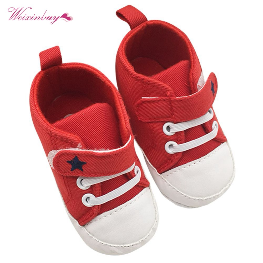 WEIXINBUY Baby Boy Shoes Girls Boys Soft Soled Crib Kids Sneakers Newborn 0-18 Months First Walkers