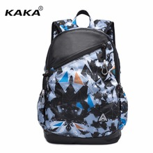 2017 KAKA Brand Design Korean Stylish Men Fashion 15 6 Laptop Backpacks Camouflage Waterproof Women School