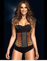 Плюс Размер Латекс Талии Shaper Энн Chery Корсеты Сталь Boned Корсет Под Грудью Талия Cincher Тонкий Женщины Leopard Shaper
