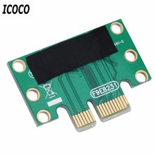 Icoco Hotest PCI-E PCI Express 1X Adaptor Riser Kartu 90 Derajat untuk 1U Server Chassis Super Promo(China)