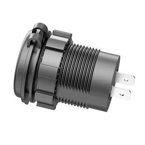 5 в 2,1 а Водонепроницаемый двойной порт USB зарядное устройство гнездо адаптера питание розетка с дисплеем напряжения Вольтметр для 12-24 В автомобиля лодки мотоцикла