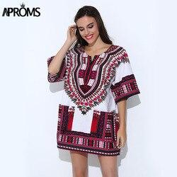 Aproms Tradicional Africano Bazin Riche Roupas para a Camisa Das Mulheres Dos Homens Clássico Dashiki Tops Big Size Outono Blusas De Impressão 10716