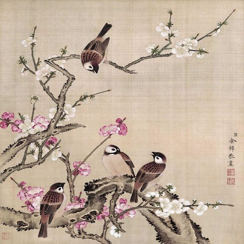 Beibehang Grote Custom Wallpapers Yu Zhiyuan Vogels Boek Gelukkige