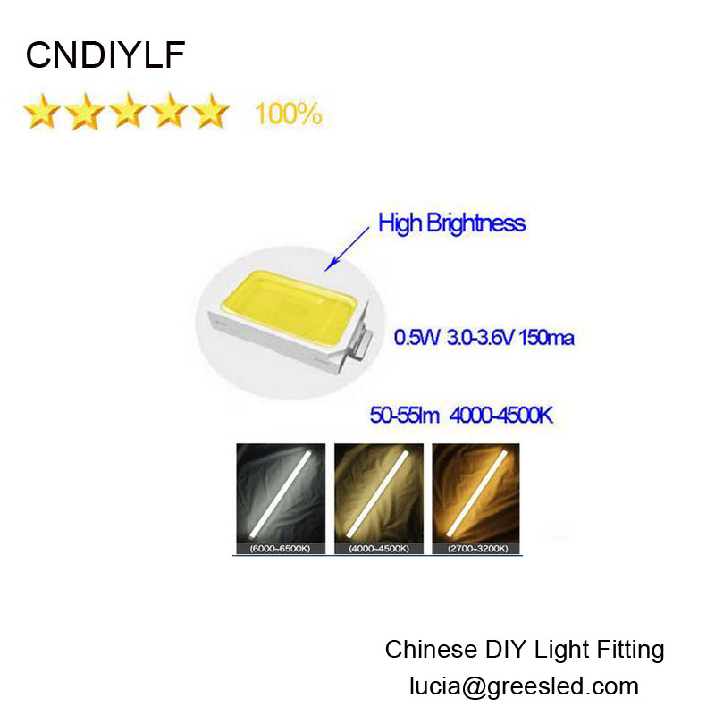 High Brightness LED Chip 0.5w 5730 SMD LED Diodes 50-55lm 3.0-3.6v Nature with ,White,Warm White,Fast Delivery
