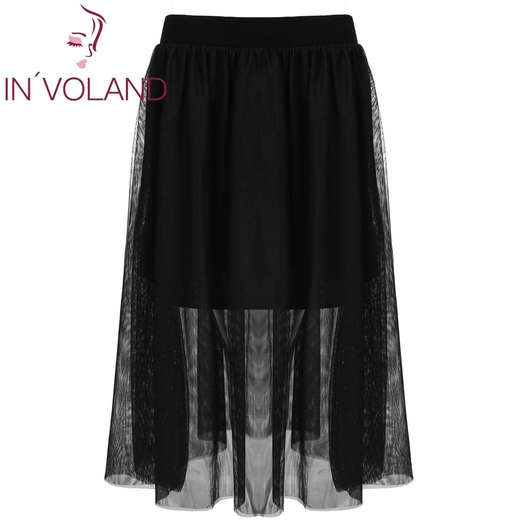 IN'VOLAND Női Midi szoknya, elasztikus derékrács, balett, rakott, - Női ruházat