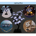 Chegada nova mini 2 w 150lm 32 leds plum blossom flor levou luz da árvore de natal festa de casamento jardim decoração da lâmpada luminosa