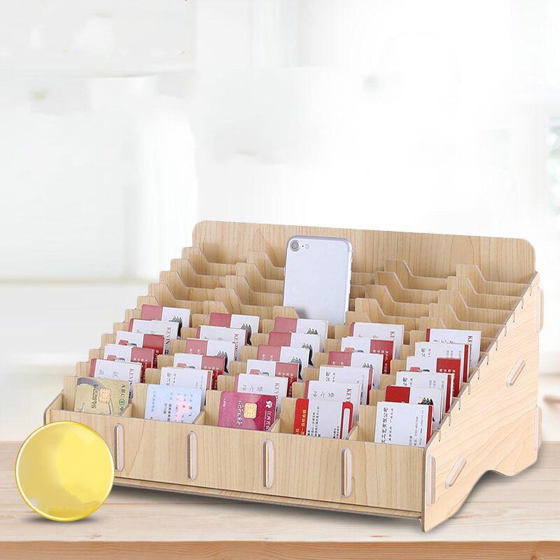 60 сетки большой Ёмкость домашнего хранения Бизнес держателя карты Творческий офисном компьютере для хранения документов стойки канцелярс...