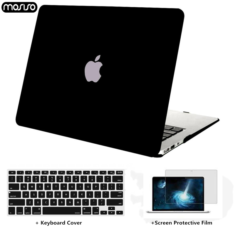 MOSISO Crystal\Matte Laptop Case For Apple macbook Air Pro Retina 11 12 13 15 Bag for case +Keyboard Cover