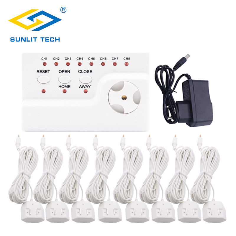 Water Leak Detector Leakage Alert System With 8pcs Long Sensitive Flood Overflow Detect Sensor For House Security Protection