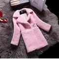 2016 Luxury Genuine Real Ovelhas Merino Pele Jaqueta Casaco de Inverno Quente Mulheres De Peles De Lã Outerwear Casacos Roupas Senhora 0735