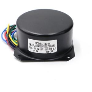 Image 4 - 115V 230V 30w Full Shield Irrigation Seal Toroidal transformer Double AC15V 0 15V + single 9V with shield case audio transformer