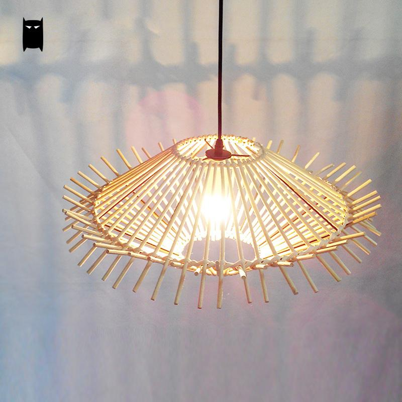 Wicker Rattan Hedgehog Lampshade Pendant Light Fixture Decorative Vintage Creative Lamp Luminaria Design Dining Room Restaurant rattan wicker pendant lights kitchen restaurant vintage bird cage lampshade classical chinese light modern design decoration