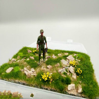 architecture model scale new grass with stone bush model mat in ho train layout