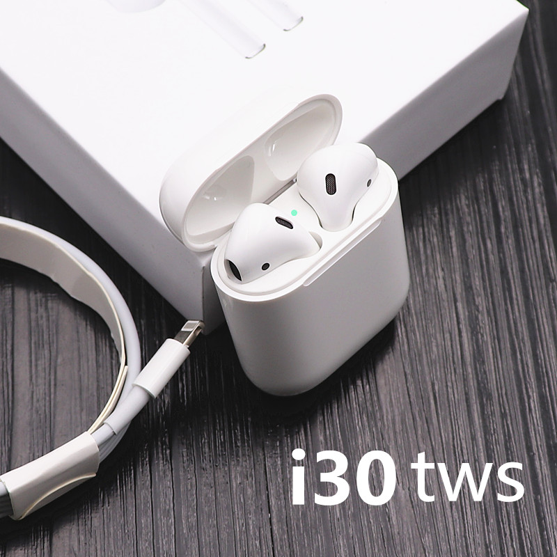 7fb29aa6bd7 i30 TWS Pop-up 1:1 size Replica Wireless earphone 6D Super Bass Bluetooth