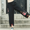 Women's Fall 2016 New Harem Pants Fashion Female Cotton And Linen Pant Plus Size Casual Elastic Pants Pants