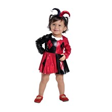 Harley Quinn Dress Costume Tutu dress Jester Superhero Up Halloween Child  +Headband