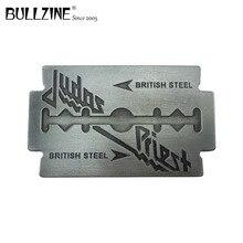 を Bullzine 卸売音楽ベルトバックルピューター仕上げジーンズベルトバックル 4 センチメートル幅ベルト用 FP 03709