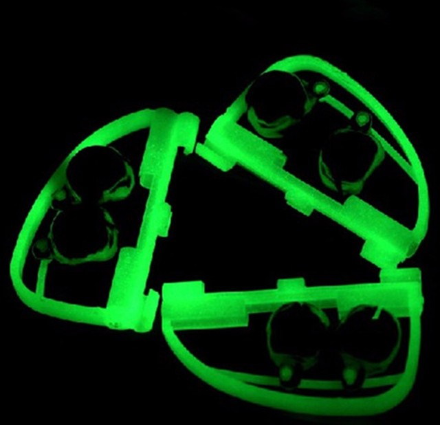 Fluorescent Clip Twin Bell Alarm Glow In The Dark