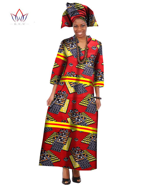 2018 Summer Robe Africaine Femme Dashiki Dresses Ethnic Plus Size 5XL  African Traditional Dresses Print 6xl cf5befe23587