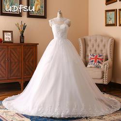 UDFSU свадебное платье Элегантное свадебное платье длина до пола суд поезд платье Белый Свадебное платье из тюля без рукавов свадебное платье