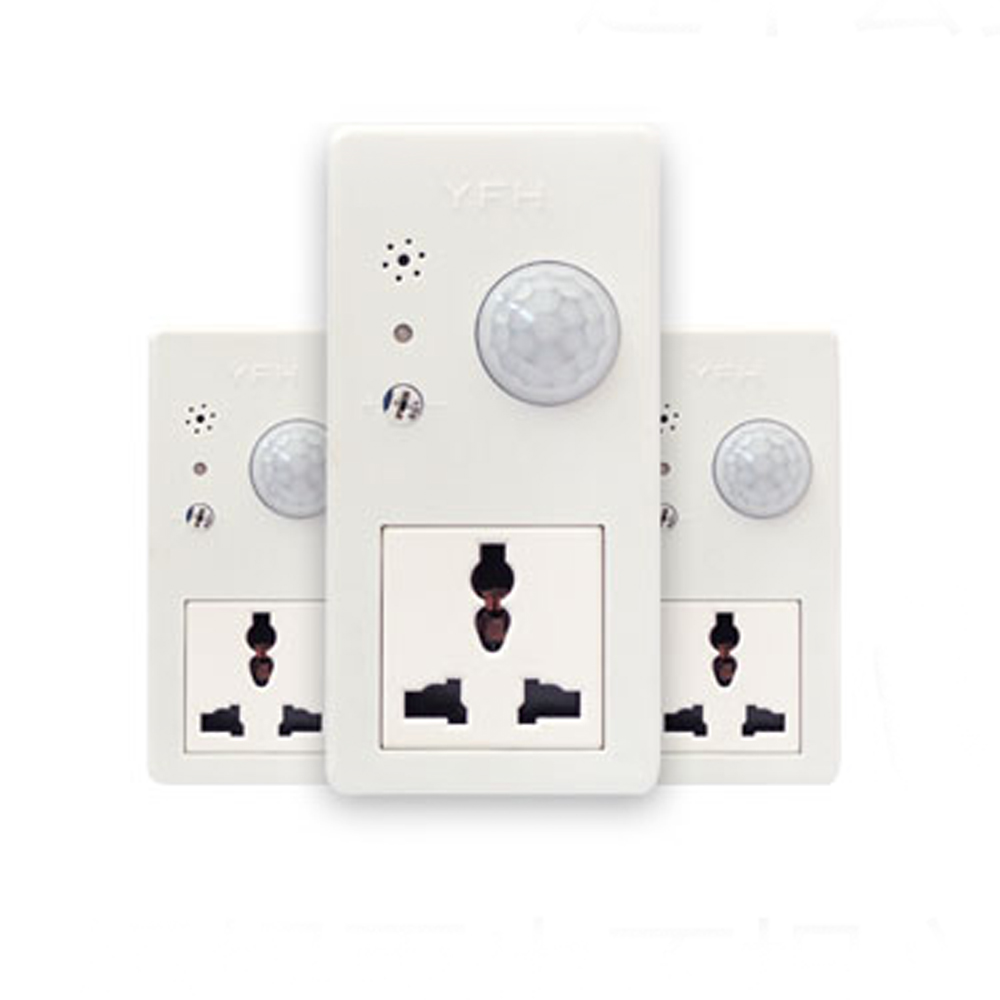 Smart Home Time delay Intelligent Smart Socket Switch Plug Timer Infrared induction and voice control Intelligent Socke touch on off switches the intelligent control induction time delay switch panel led light intelligent protection lzx