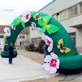 Прекрасный 10 м Надувной Цветок Арки для Детей и Завод Случае
