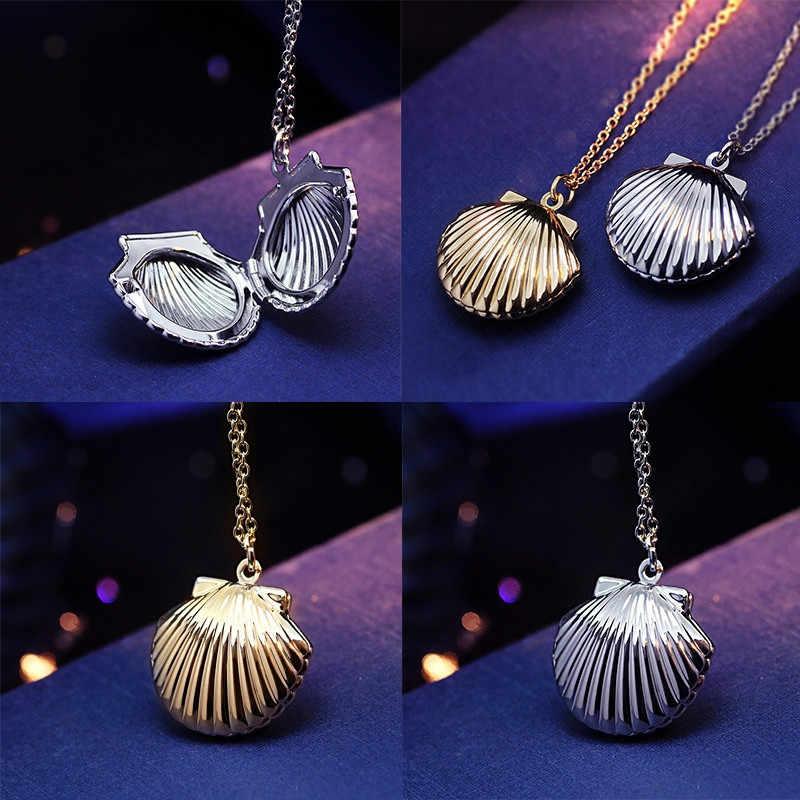 Gaya Baru Kerang Perhiasan Kalung Liontin Kalung Emas Liontin Kuningan Emas Torsi Fantastis Laut Shell Kalung Ornamen