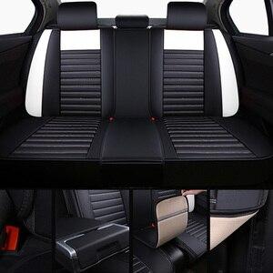 Image 4 - Fundas de asiento delanteras y traseras para coche, de cuero PU, universales, aptas para TOYOTA Corolla RAV4 Highlander PRADO, Yaris Prius Camry Protector para asientos de coche