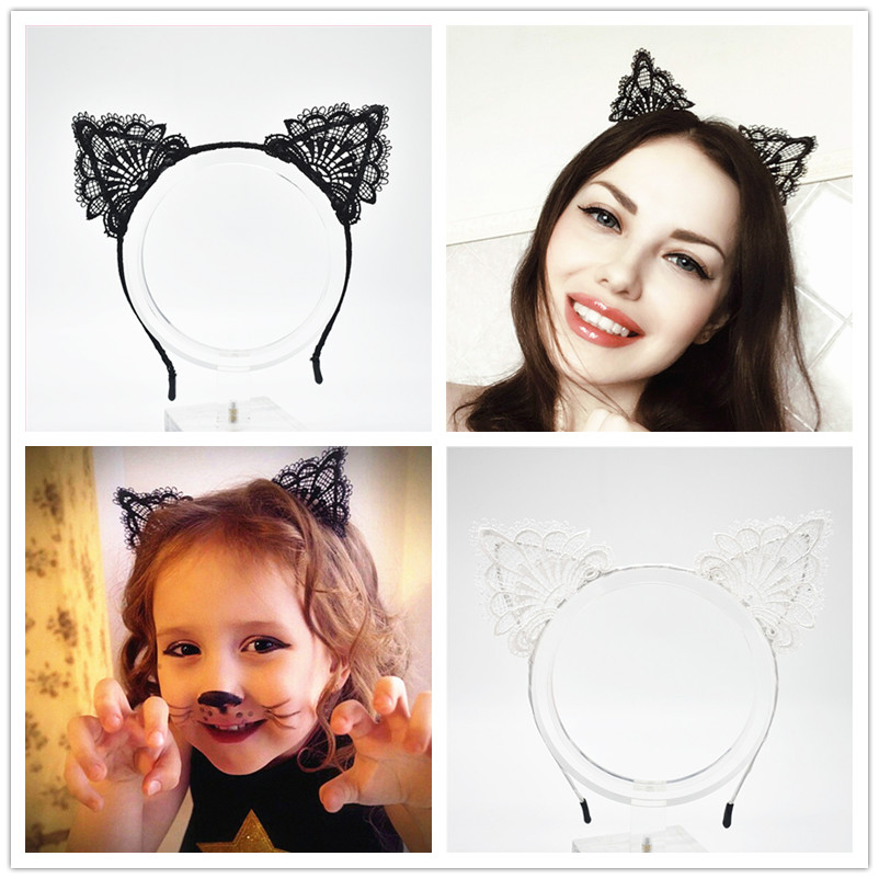 black cat ear headband